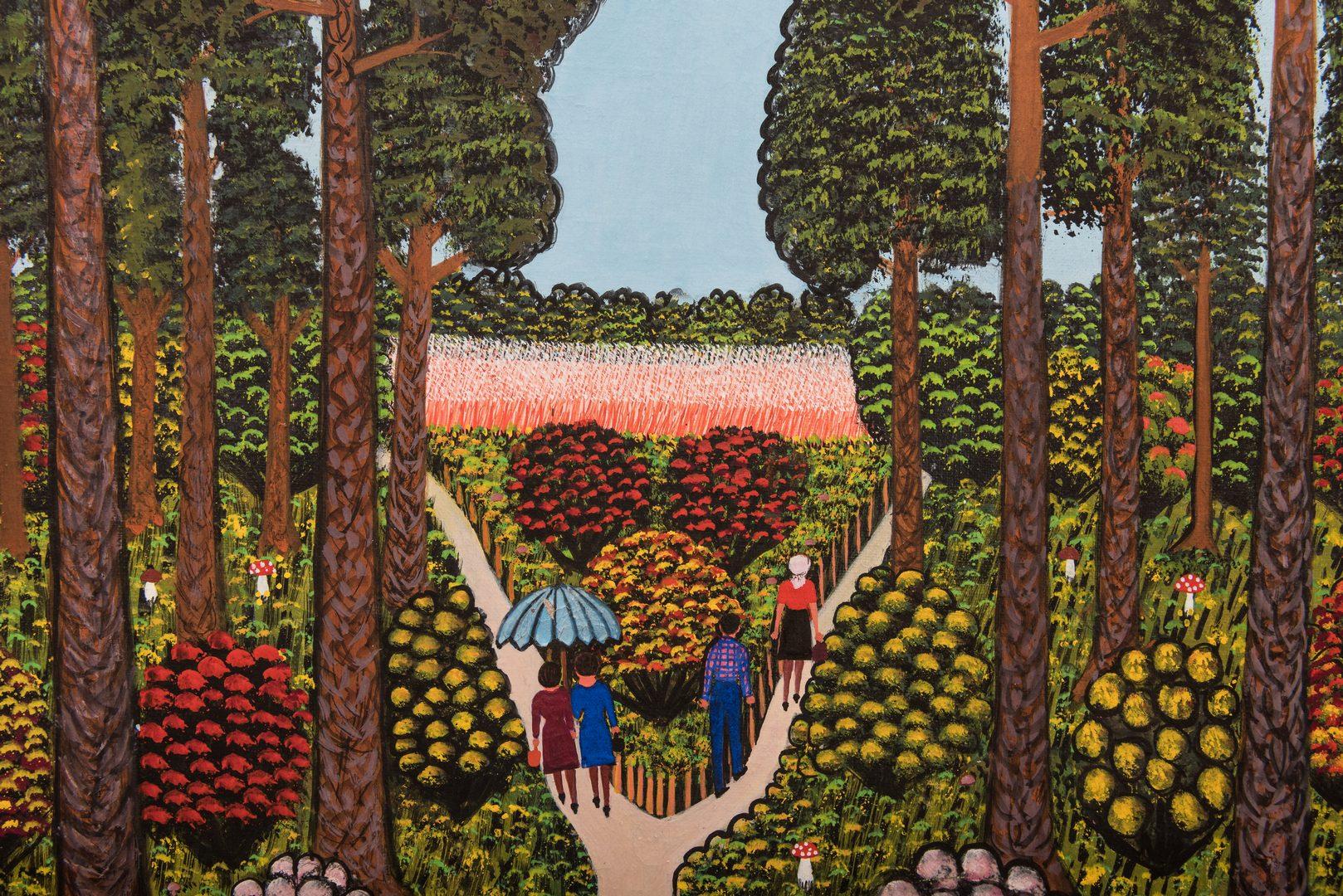 Lot 811: M. Korsak Painting – Park Scene