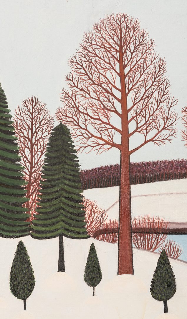 Lot 812: M. Korsak Painting – Winter Landscape