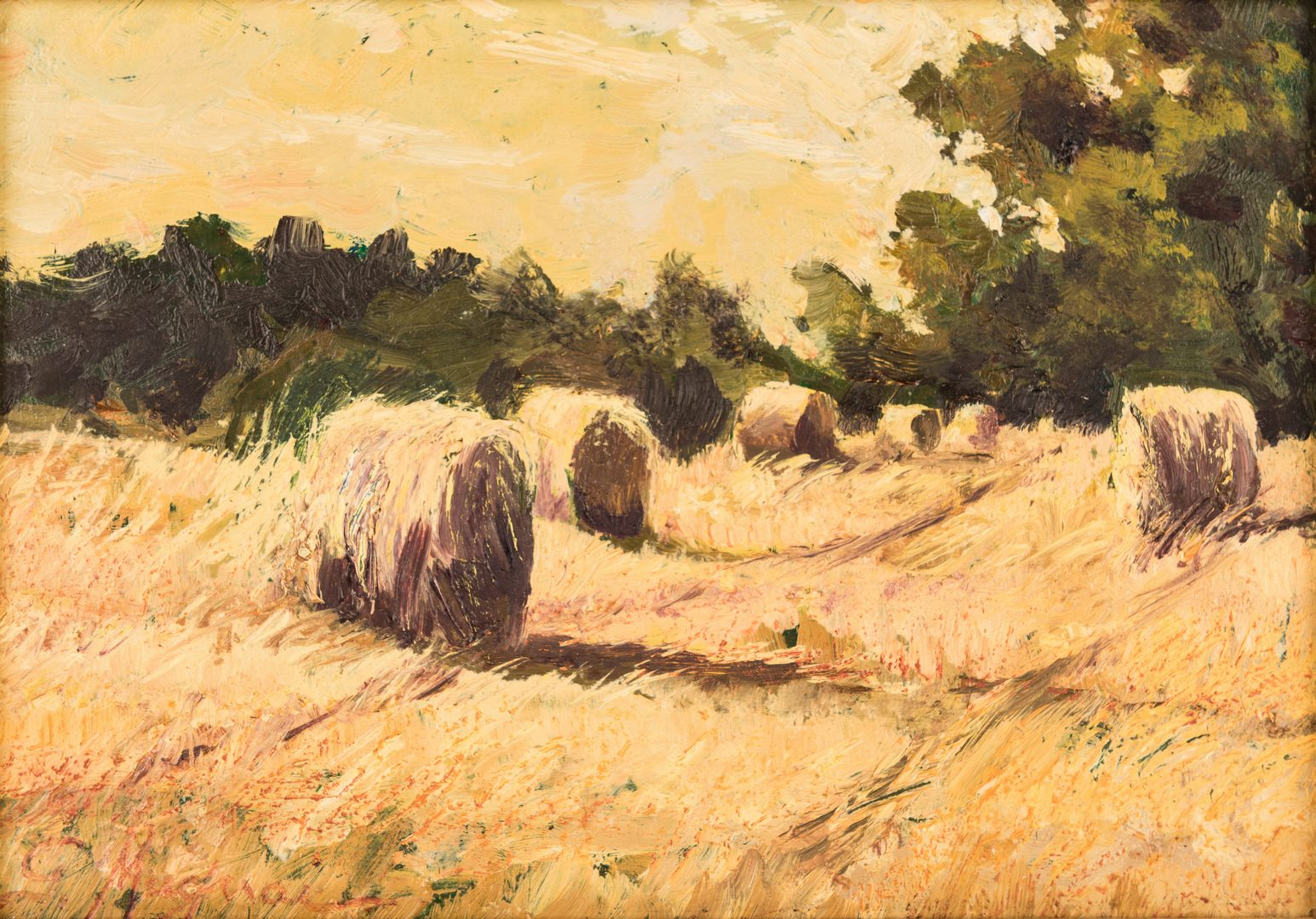 "Lot 813: Giulio Muguai, O/B, ""After the Harvest"""
