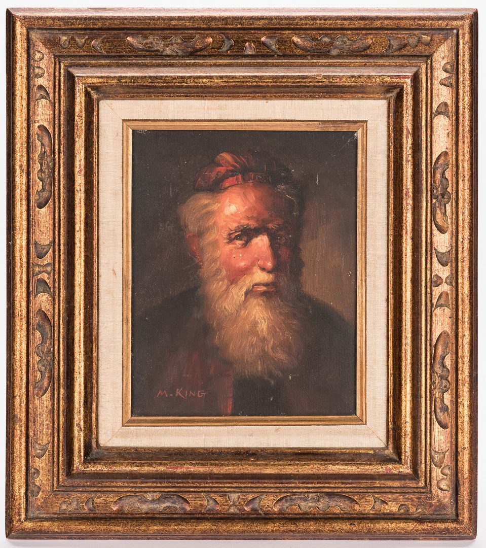 Lot 816: M. King, Portrait of a Man