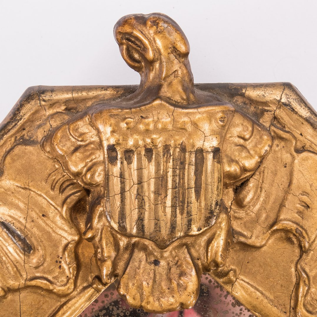 Lot 818: American Federal Gilt Mirror with Eagle