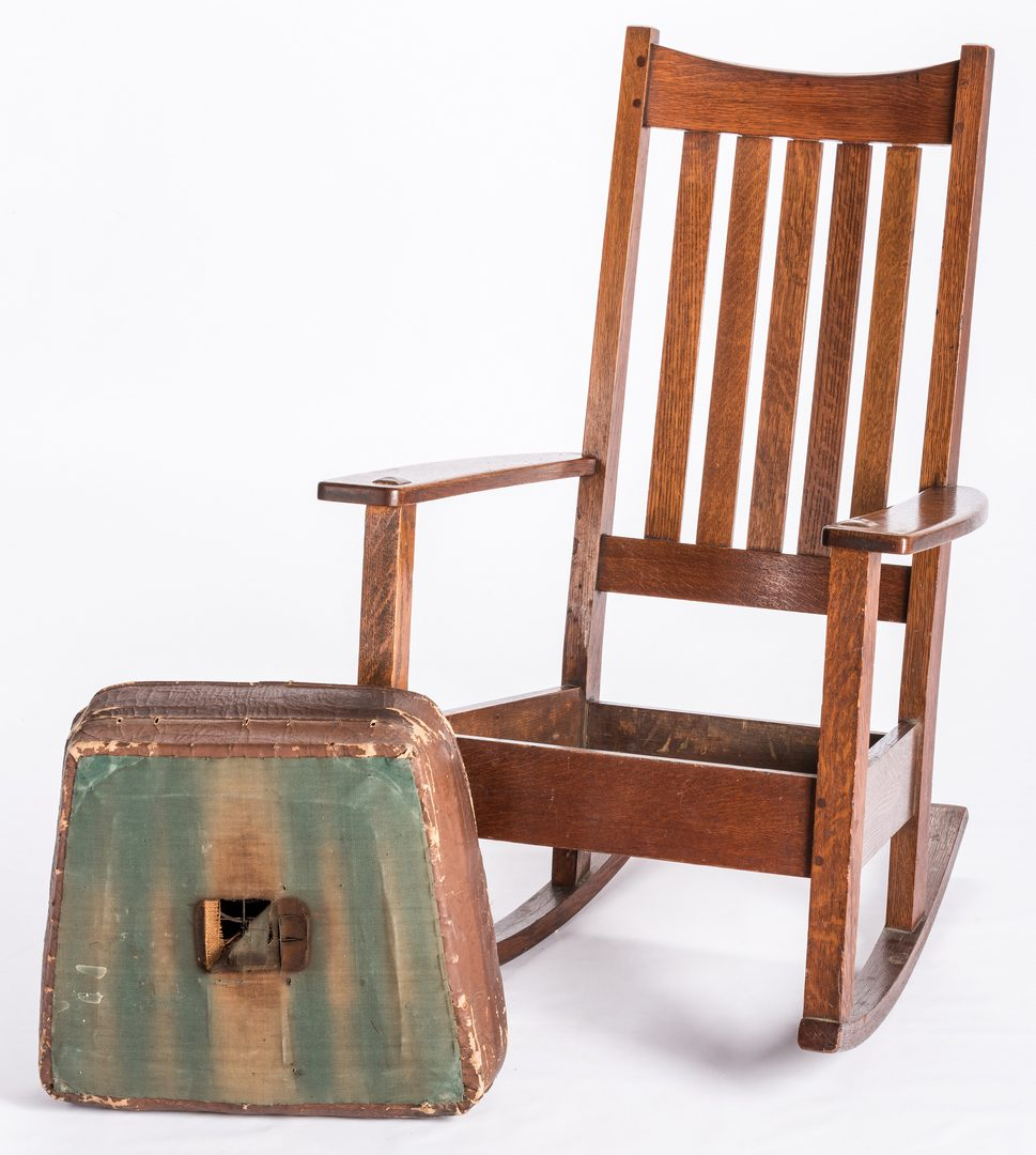 Lot 824: Arts & Crafts Limbert Rocking Chair