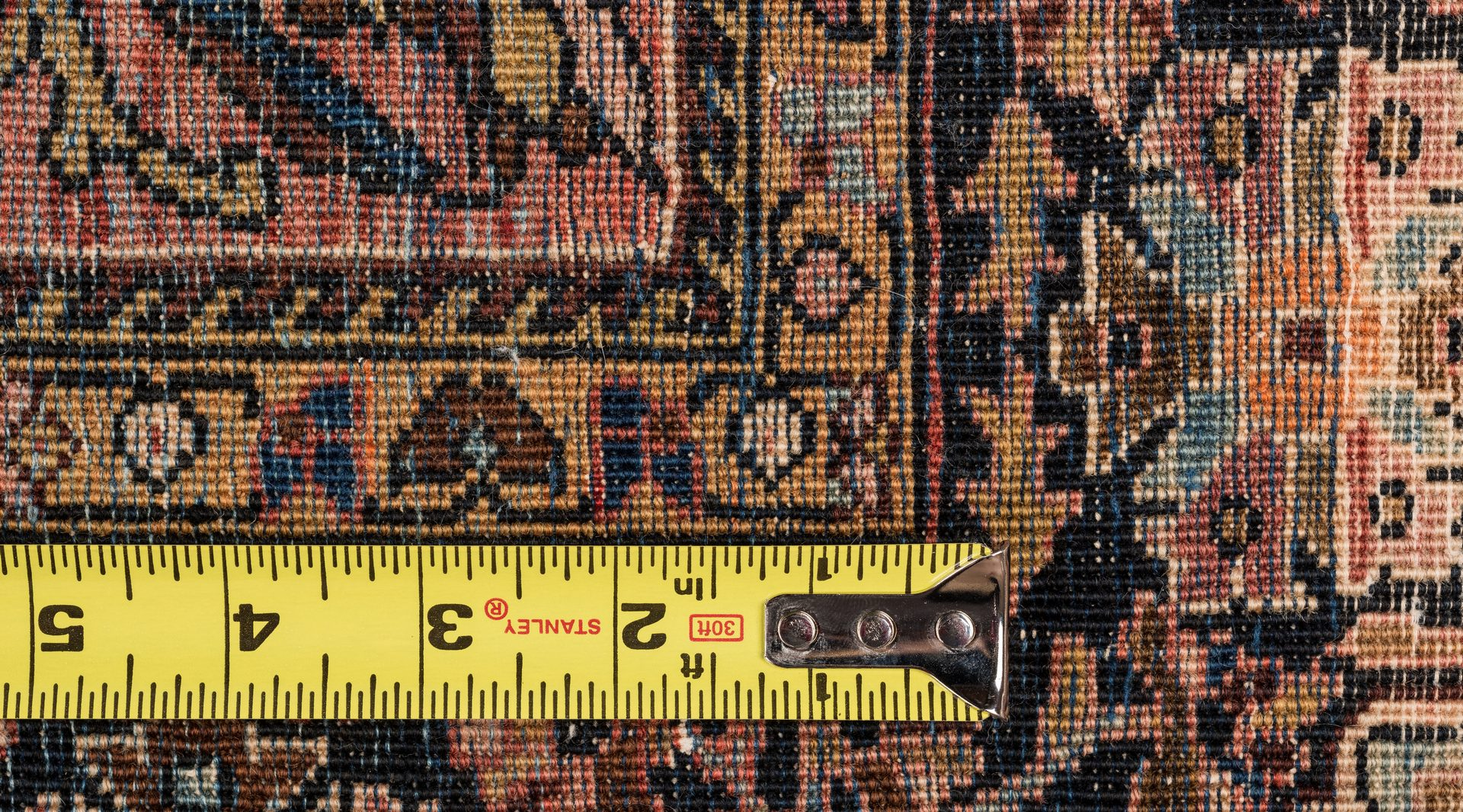 "Lot 834: Antique Fereghan Sarouk Rug, 6'6"" x 4'"