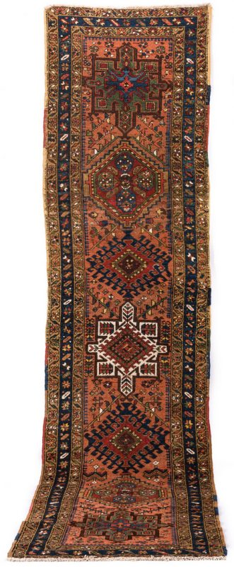 "Lot 835: Antique Persian Heriz Runner, 10'4"" L"