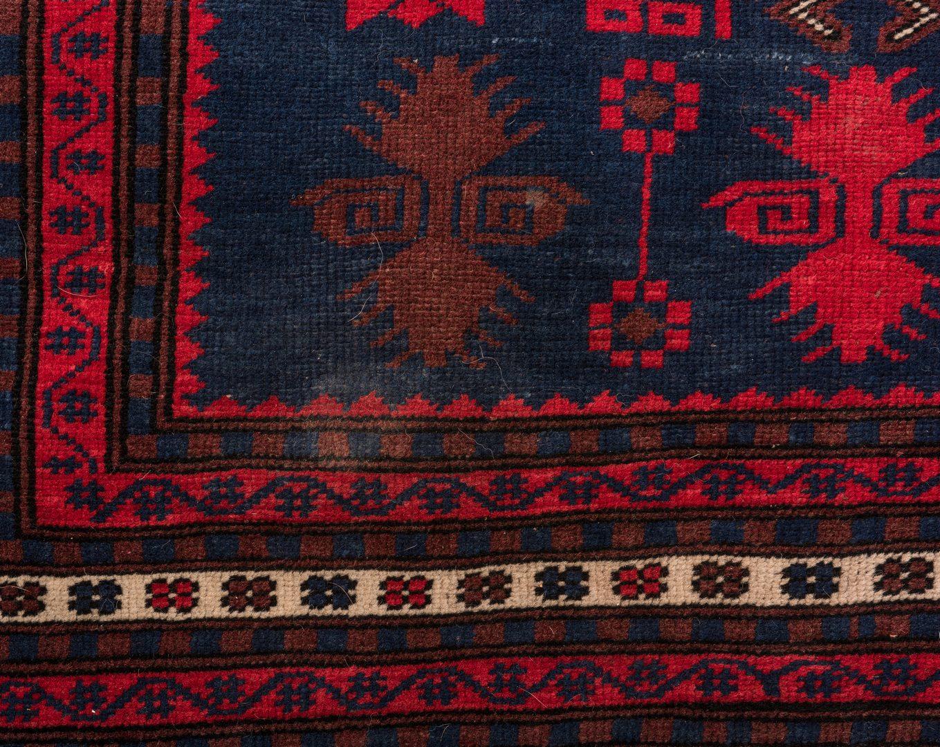 Lot 837: Semi-antique Turkish Tribal Rug, 6.5 x 3.8
