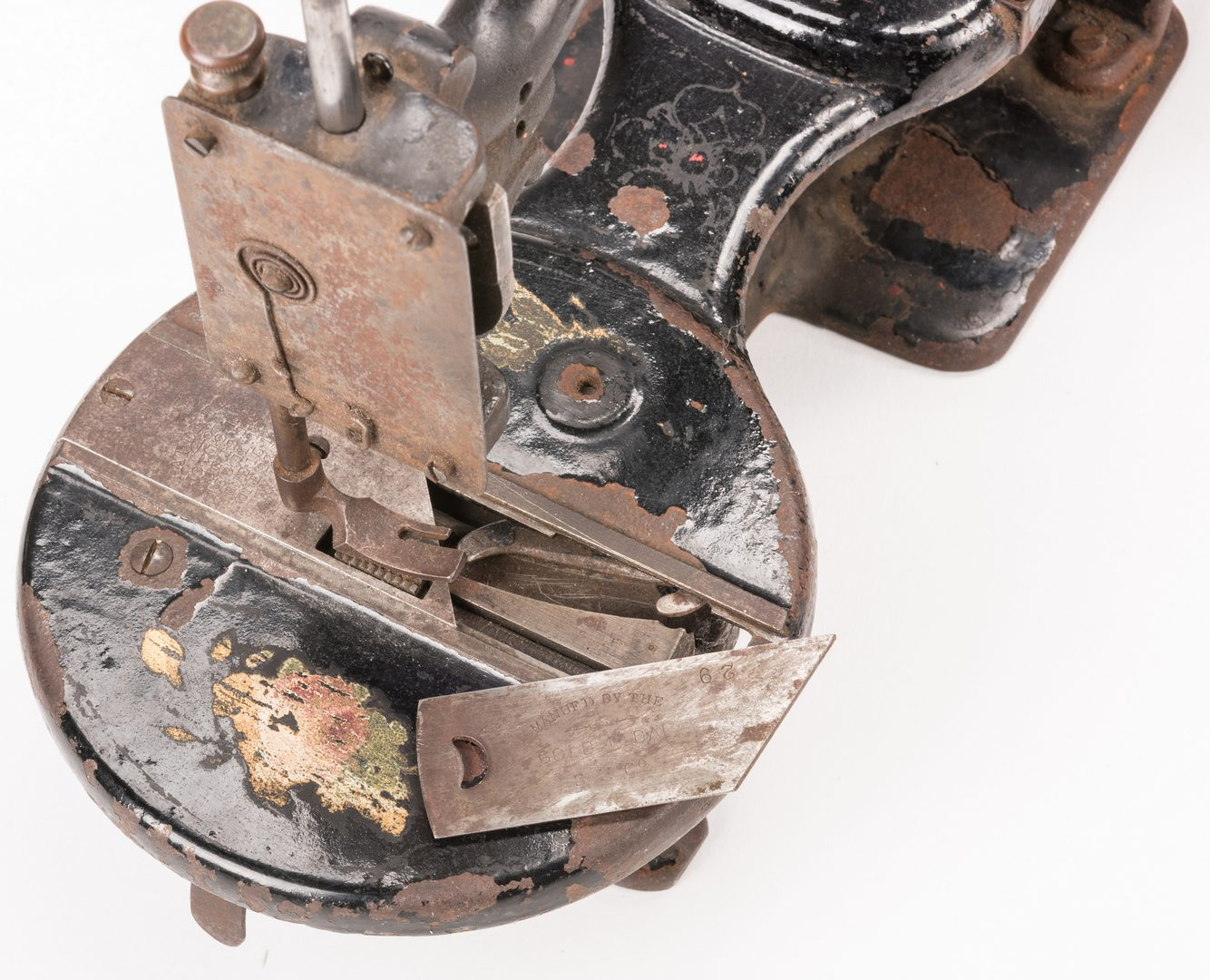 Lot 843: Four 19th c. Cast Iron Sewing Machines