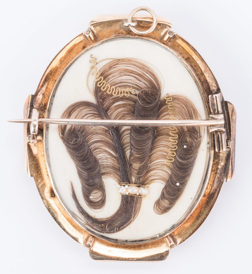 Lot 844: 4 Pcs. Victorian Hair Jewelry