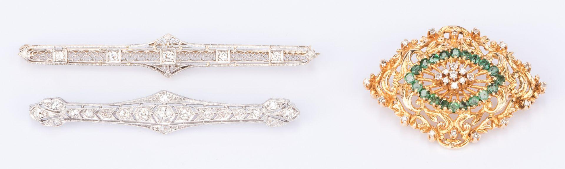 Lot 845: 3 Gemstone Pins