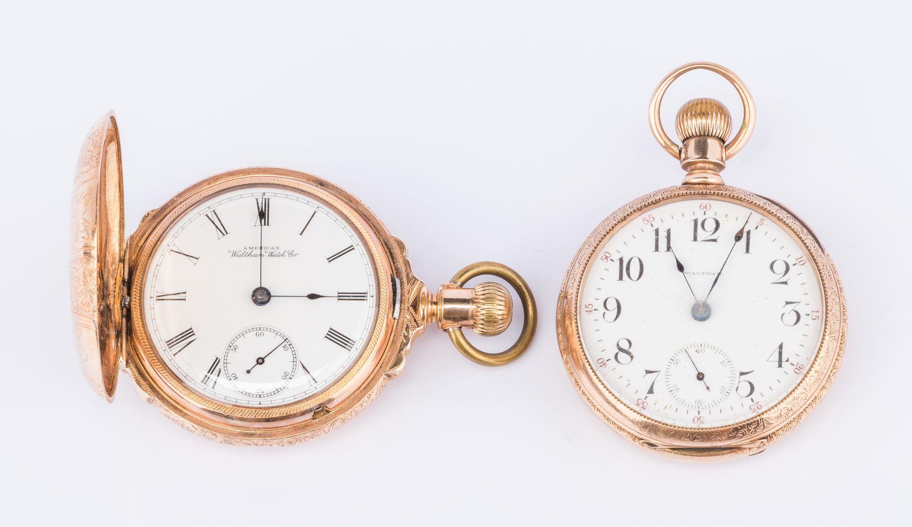 Lot 855: 2 Waltham watches incl 14K Railroad watch