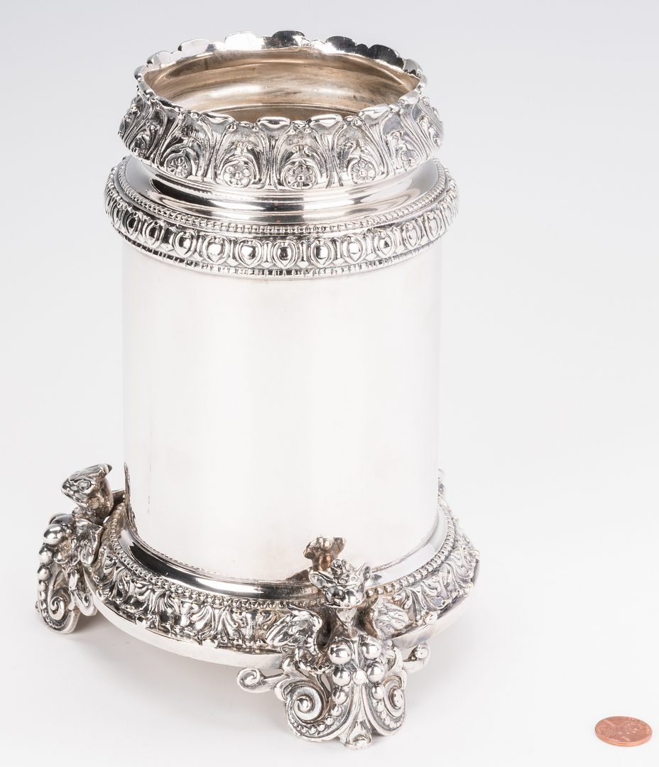 Lot 858: Silver Plated Wine Cooler