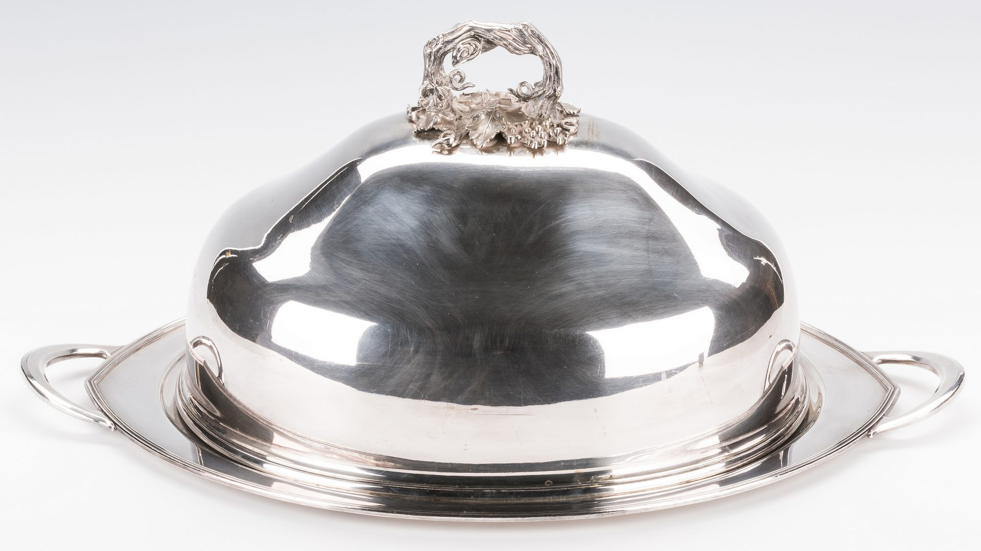 Lot 862: Silverplate Meat Dome Cover w/ Undertray