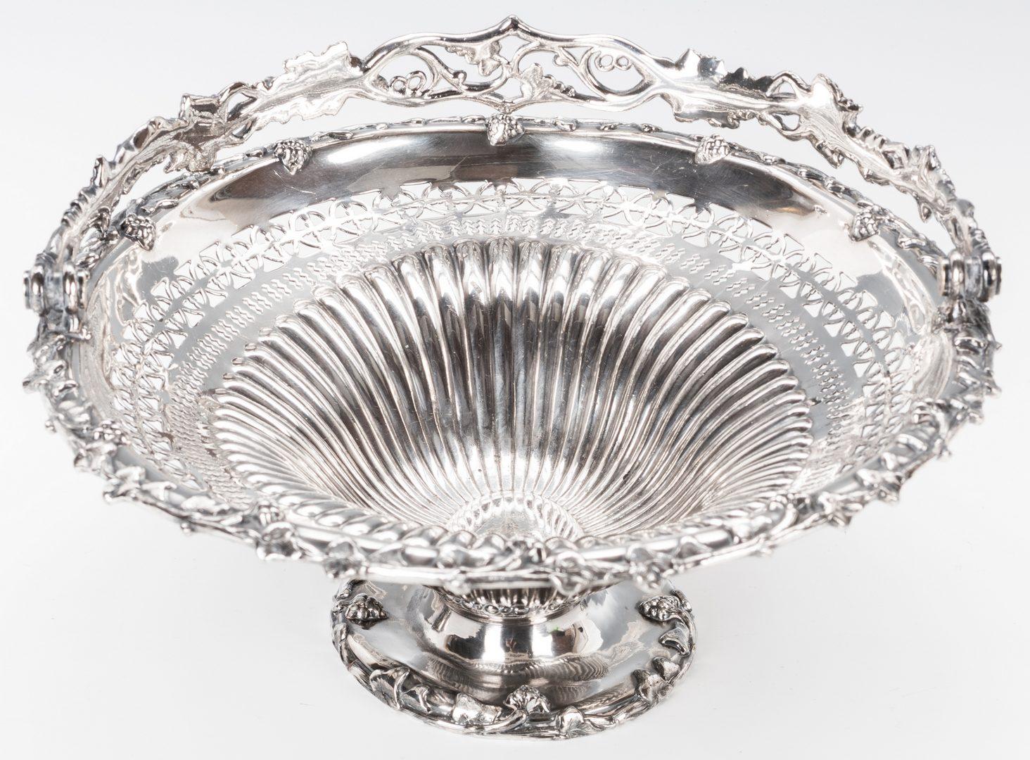 Lot 863: English Victorian Silver Candelabra; Basket