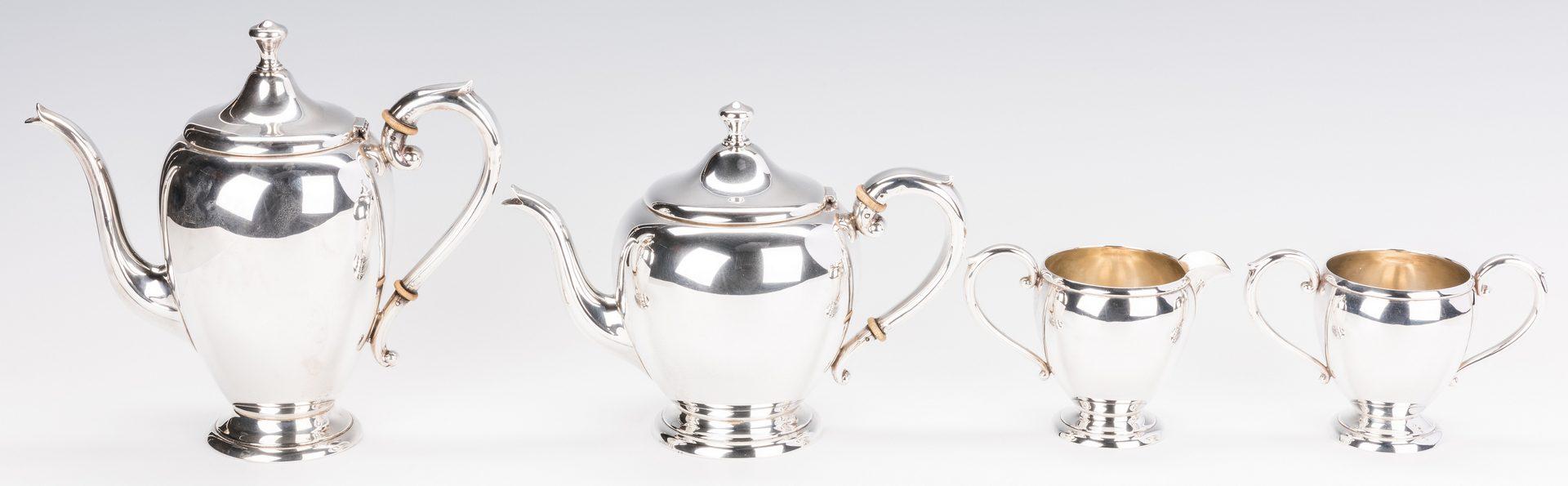 Lot 867: 4 pc. Sterling Silver Tea Set