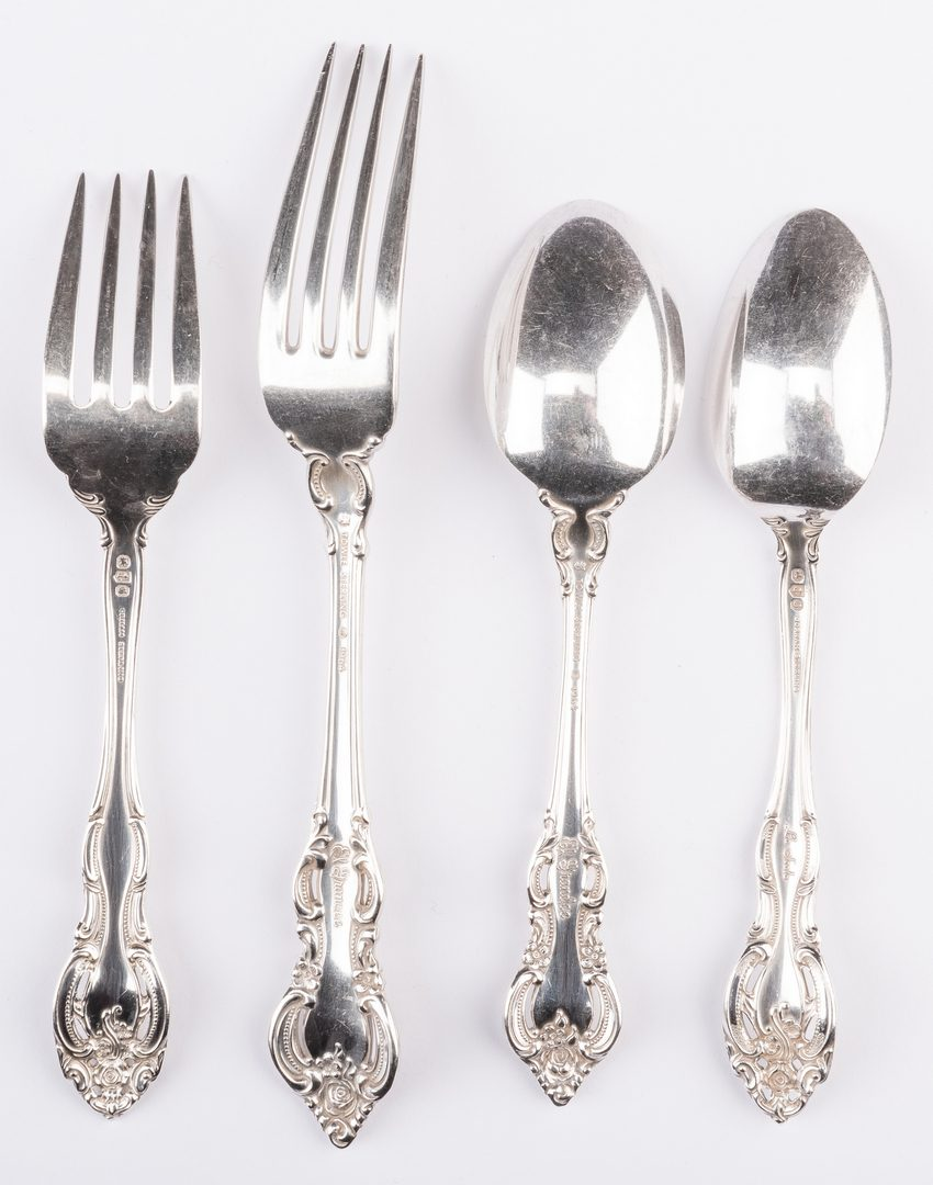 Lot 870: 28 Pieces Sterling Silver Flatware, inc. Gorham La Scala