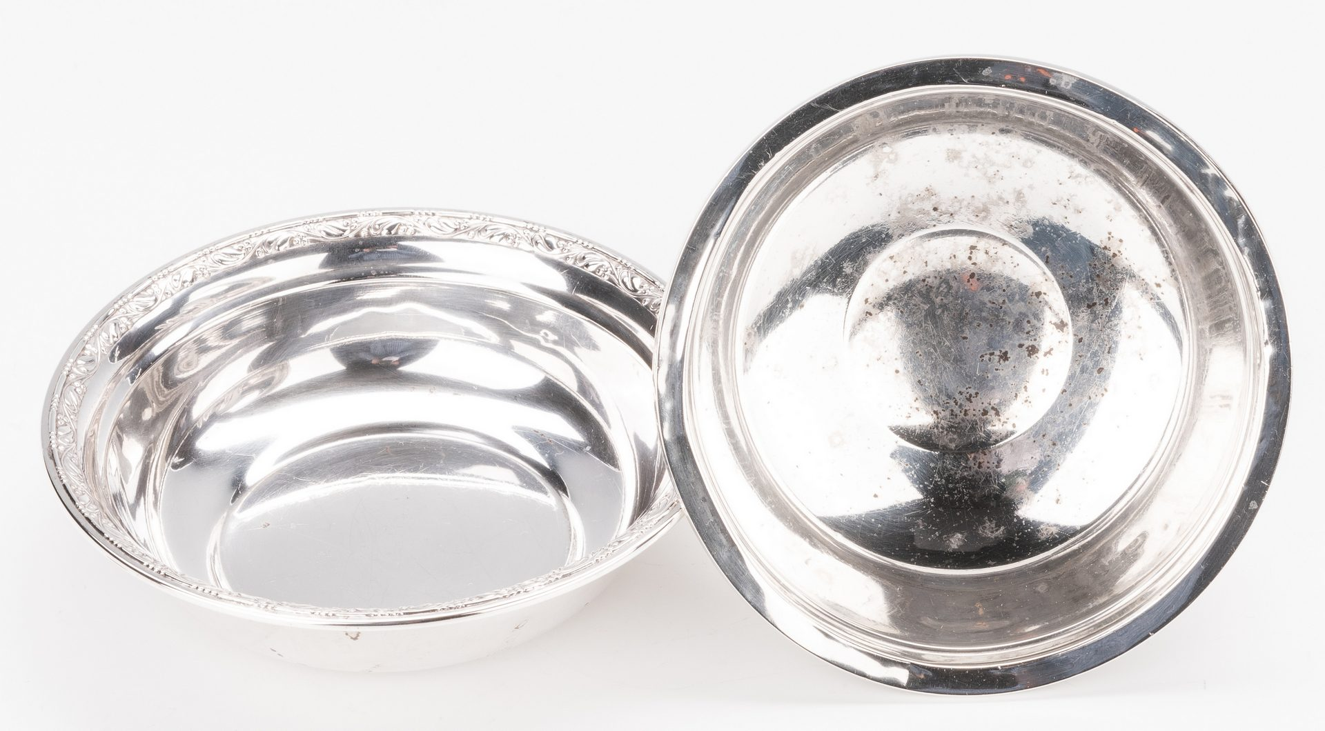 Lot 871: 19 Sterling Silver Hollowware Items