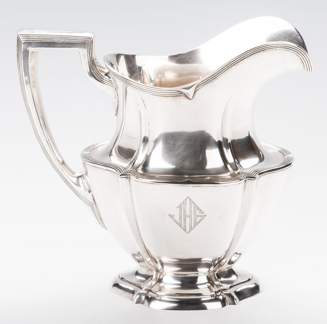 Lot 873: International Sterling 4 pt Water Pitcher