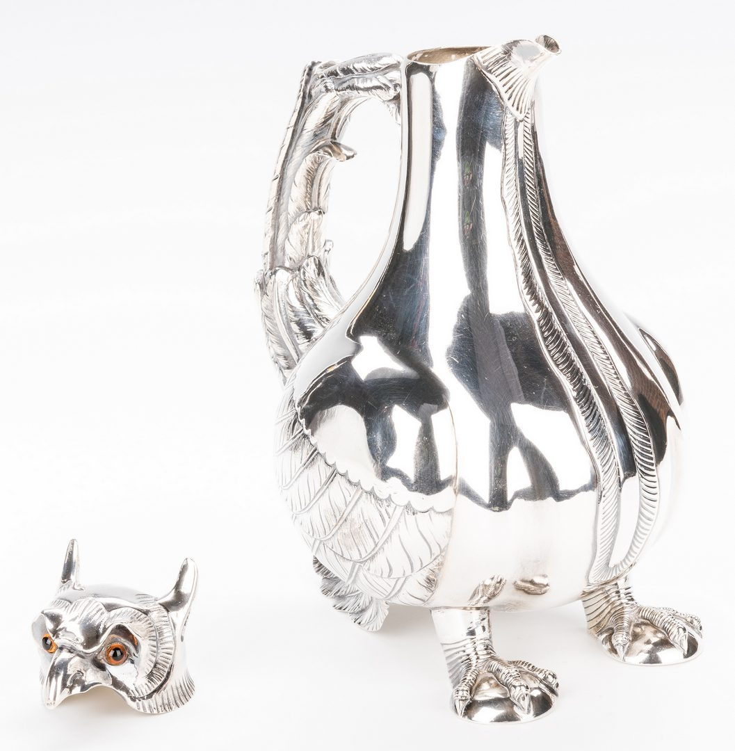 Lot 87: Continental Silver Griffin Figural Jug