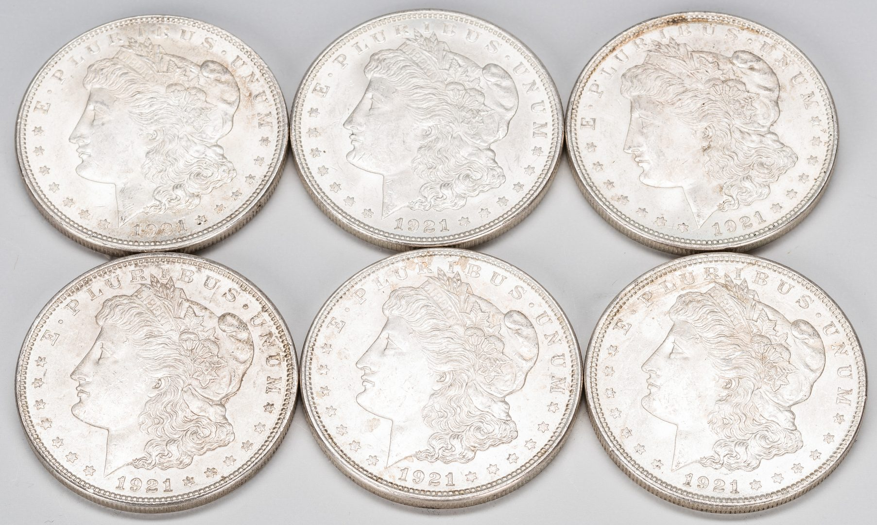 Lot 888: 53 U.S. 1921 Morgan Silver Dollars