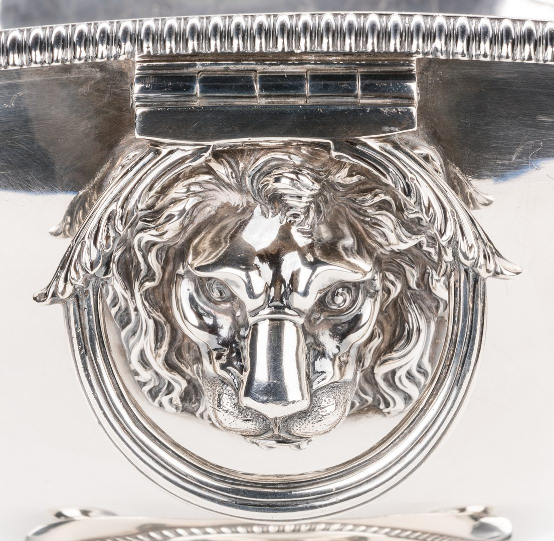 Lot 88: George III Sterling Soup Tureen, Emes & Barnard