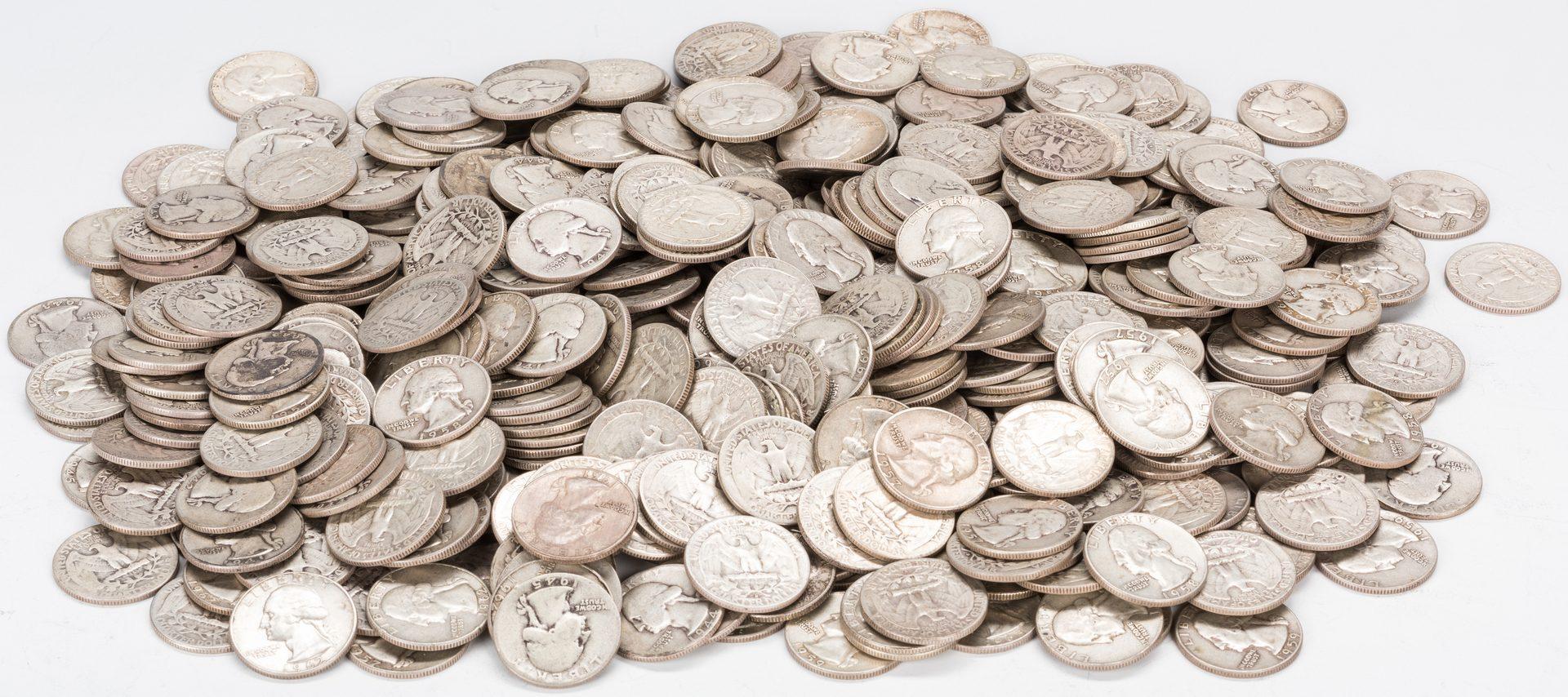 Lot 892: 425 U.S. Washington Silver Quarters (1934-1964)