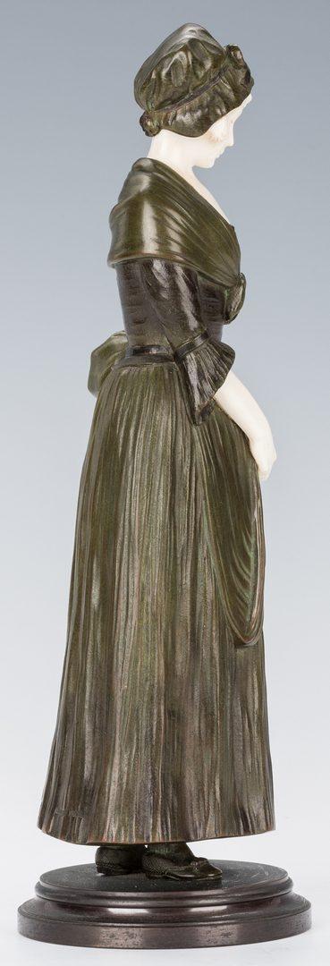 Lot 92: Dominique Alonzo Bronze & Ivory Sculpture