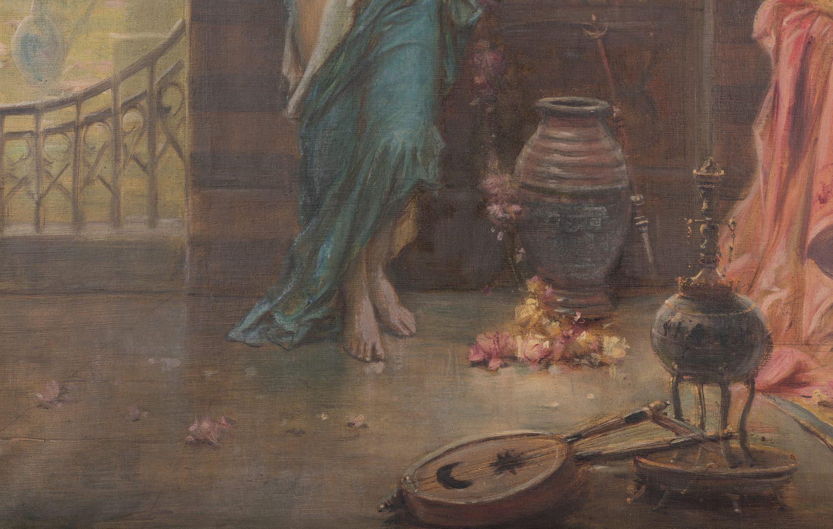Lot 94: Hans Zatzka Oil on Canvas Orientalist Scene
