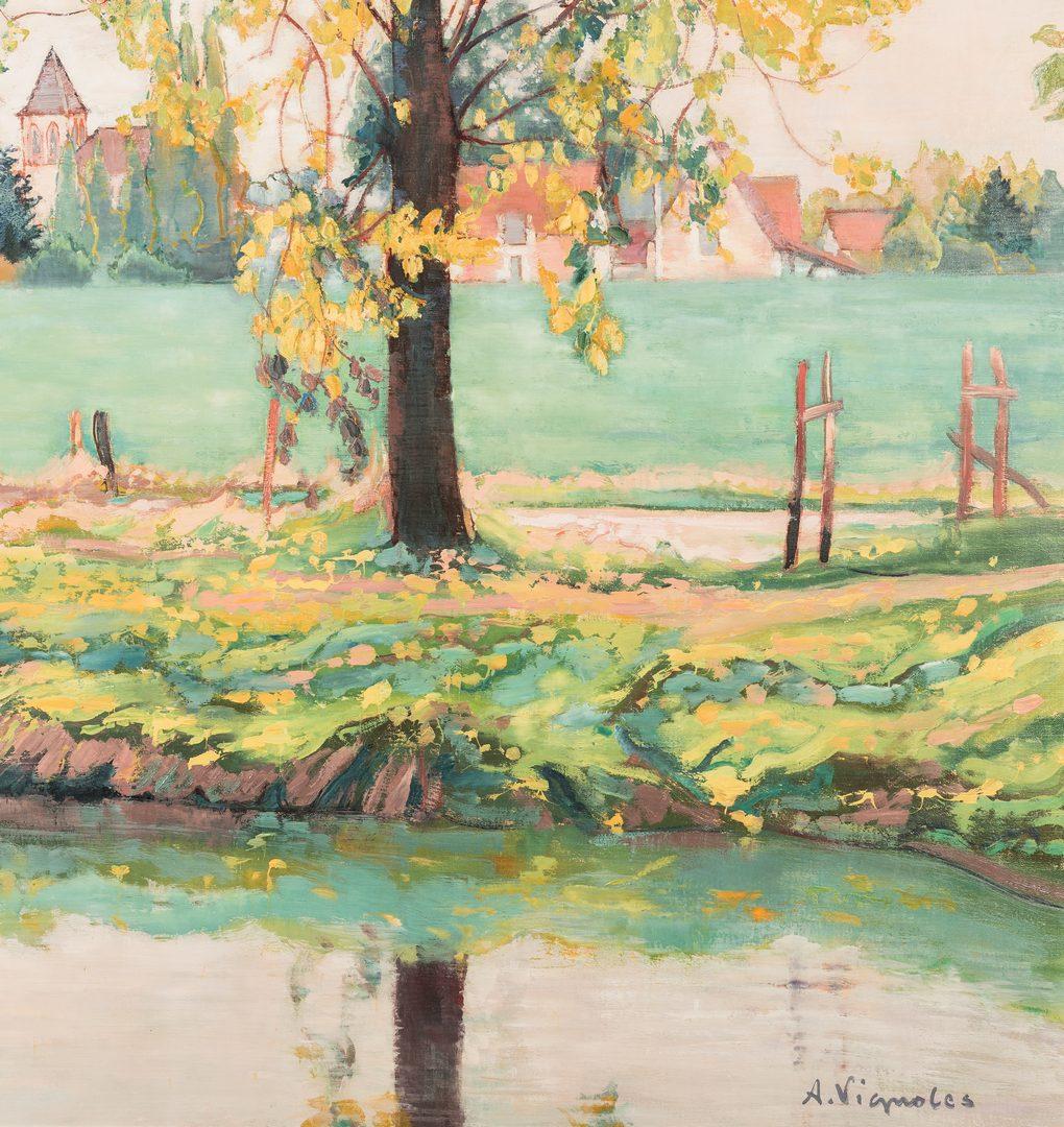 Lot 96: Andre Vignoles, O/C, Landscape Painting