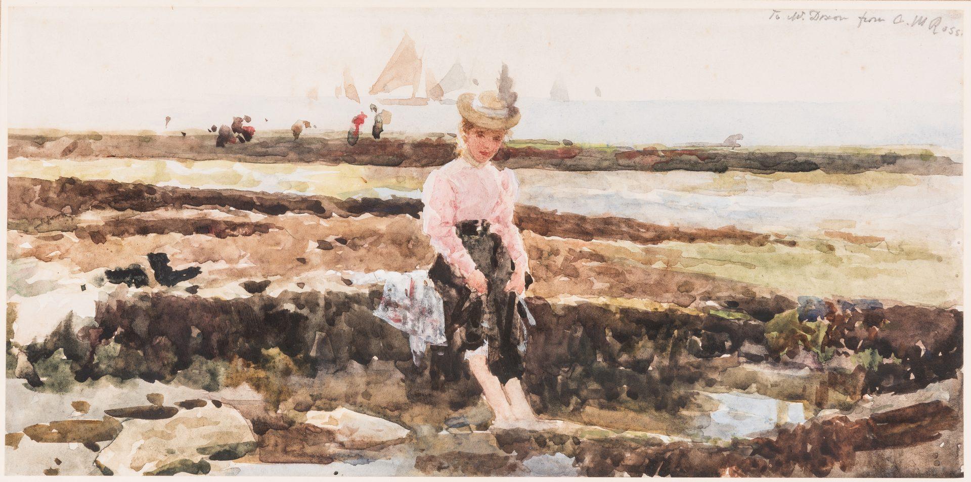 Lot 97: Alexander Mark Rossi Seashore Watercolor Painting