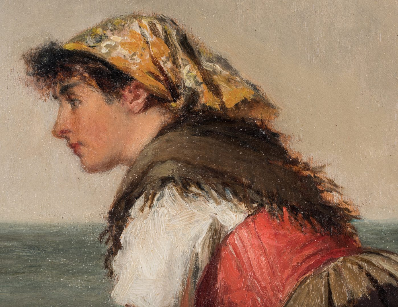 Lot 98: Haynes King O/B, Fisherwoman at Wall