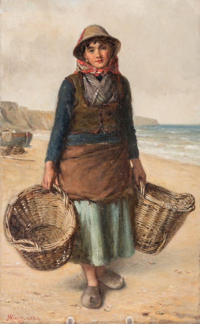 Lot 99: Haynes King O/B, Fisherwoman on Beach