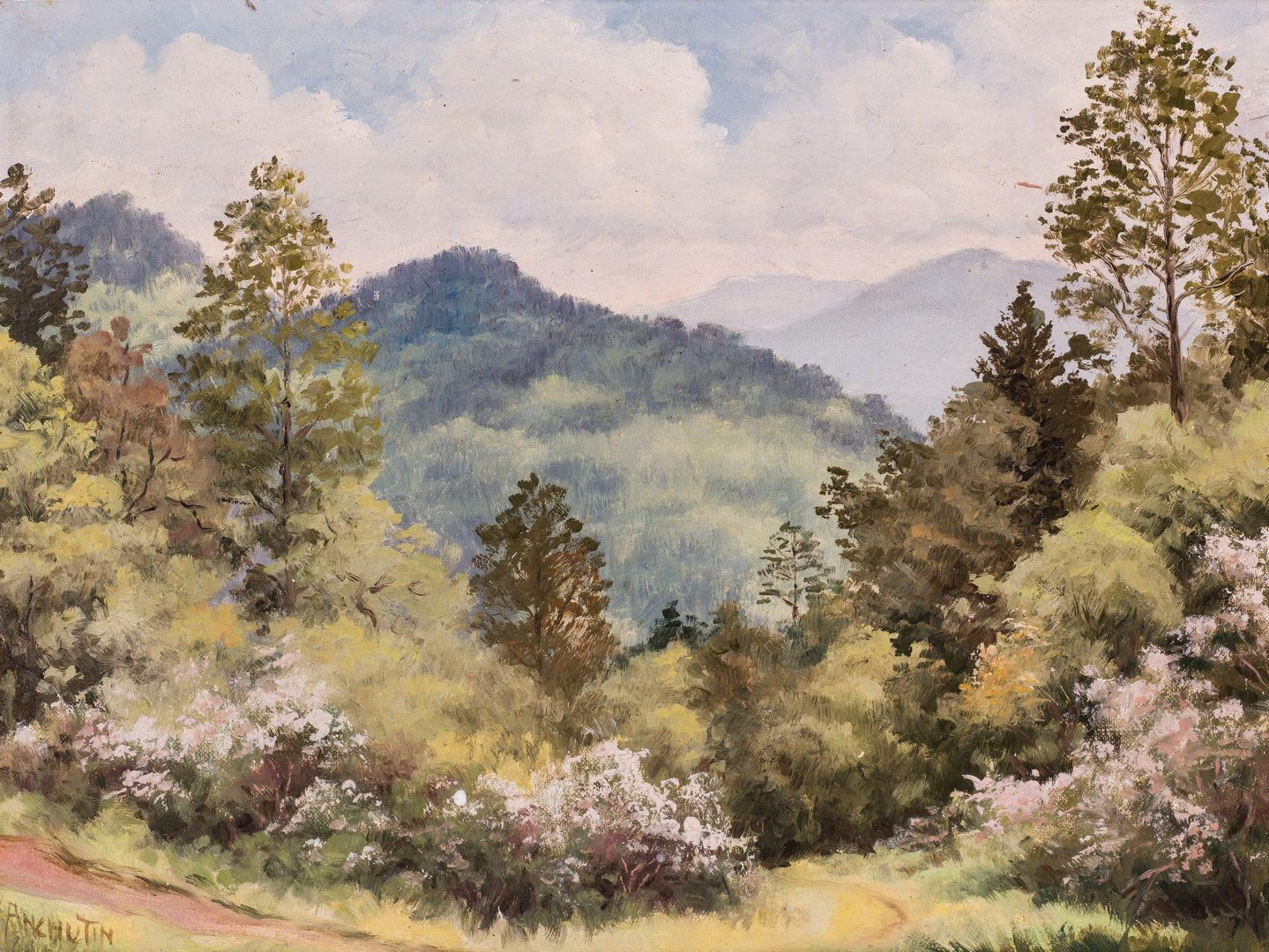 Lot 100: 2 Anchutin, O/B, Smoky Mountain Landscape Paintings