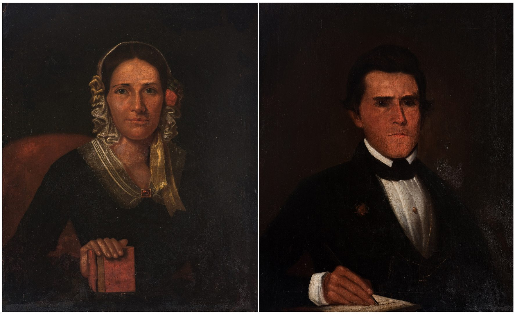 Lot 102: Pair of Samuel Shaver Portraits