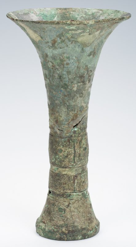 Lot 10: Rare Chinese Archaic Bronze Wine Vessel