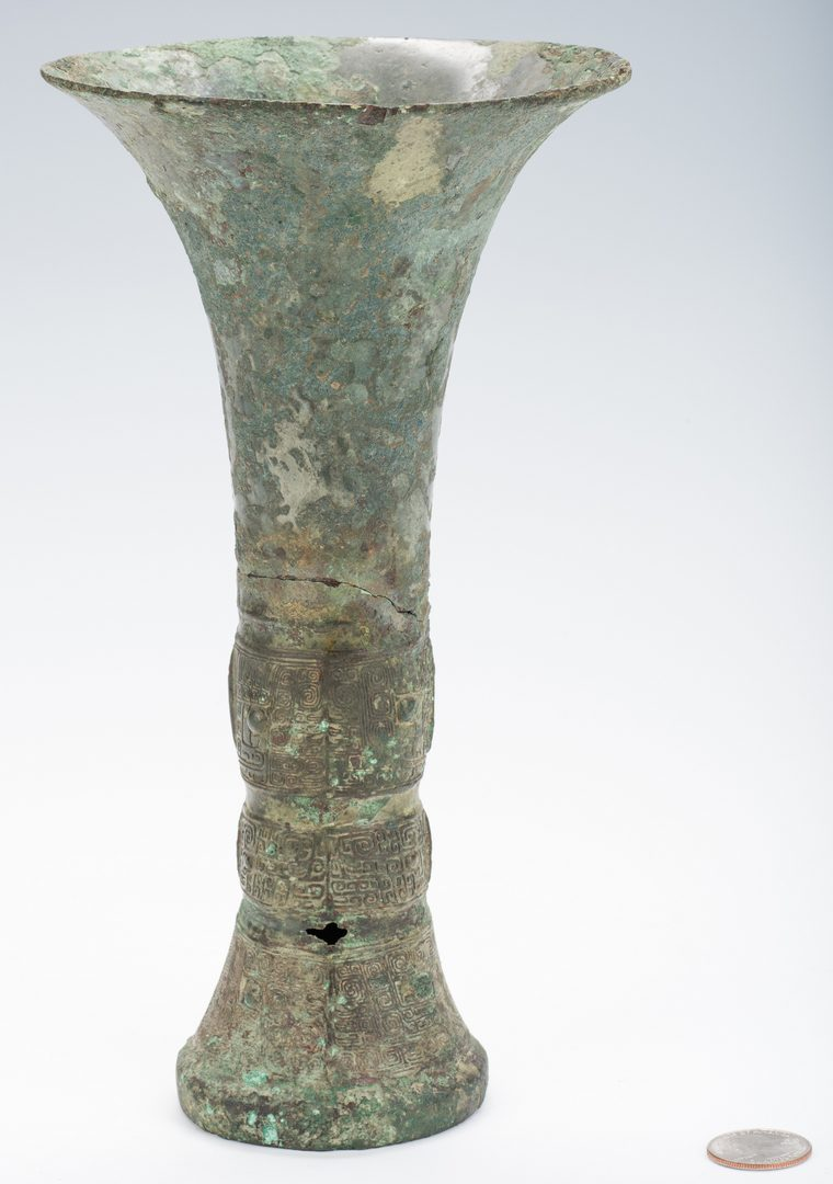 Lot 10: Rare Chinese Archaic Bronze Wine Vessel