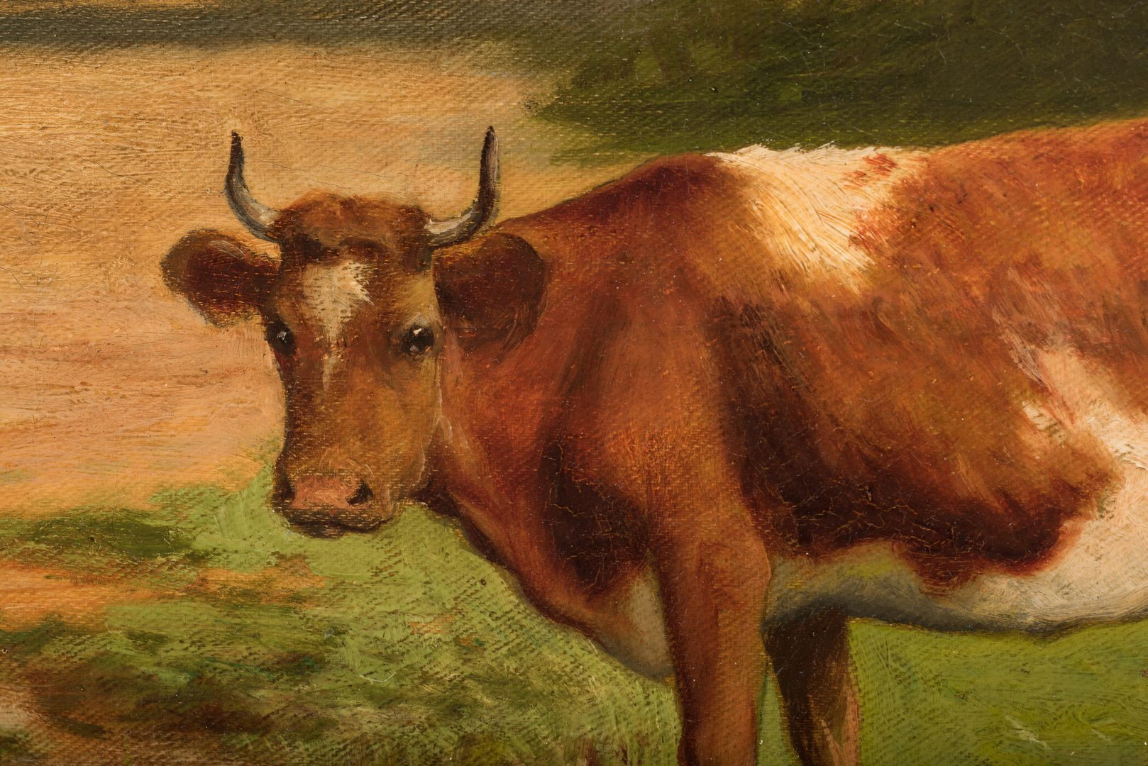 Lot 111: Robert Atkinson Fox, O/C, Cows on Country Road