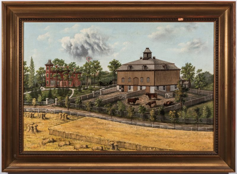 Lot 112: Folk Art O/C of Eastside Farm, WI