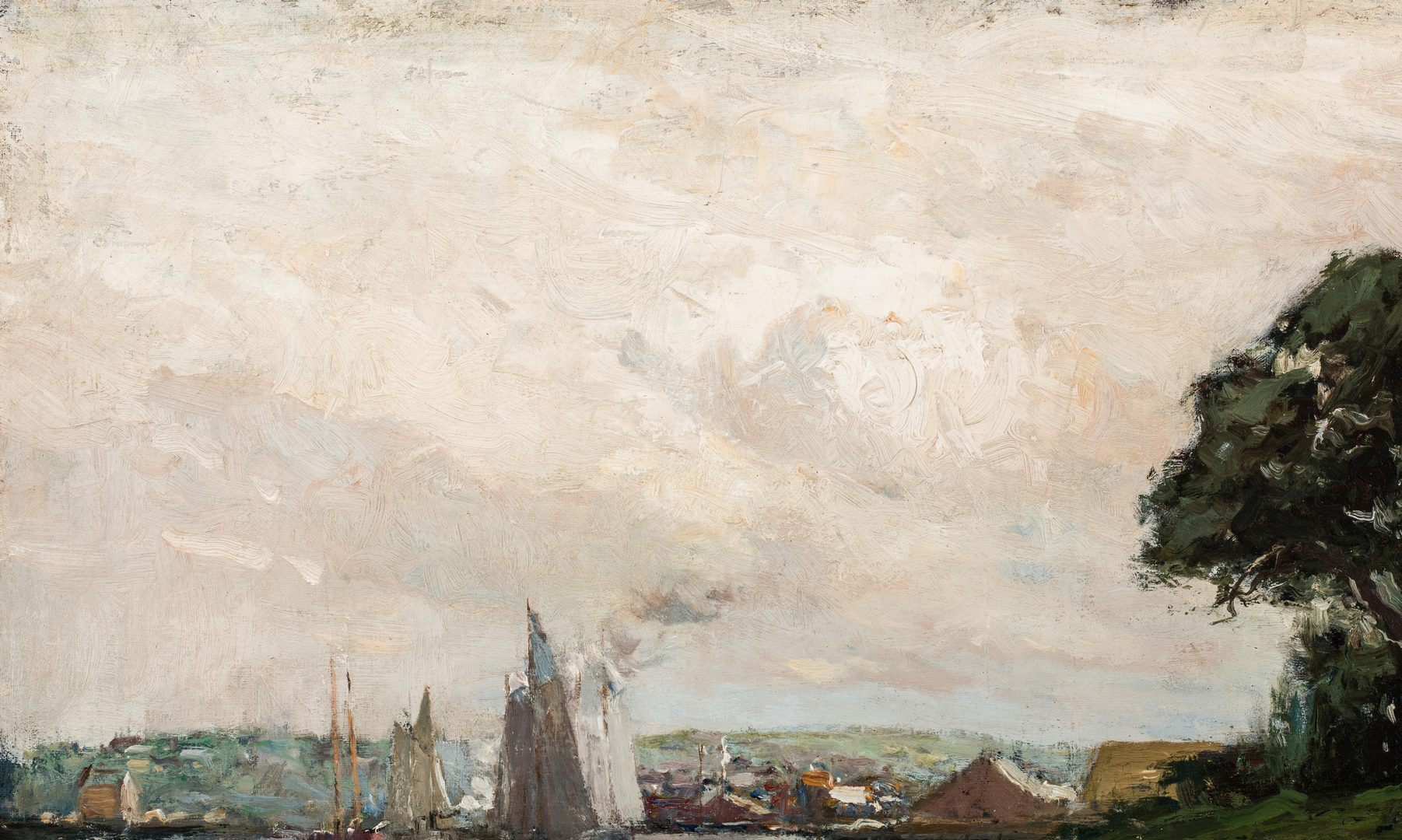 Lot 117: Charles Woodbury, O/C, Harbor at Low Tide