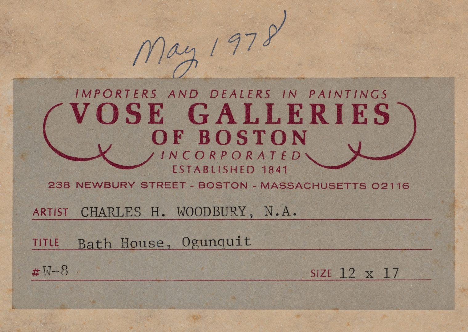 Lot 118: Charles Woodbury O/C, Ogunquit Bath House
