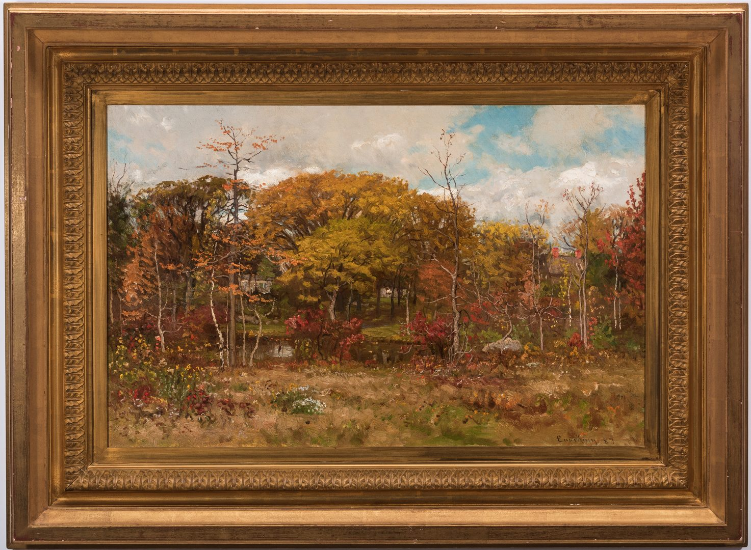 Lot 120: John Joseph Enneking O/C, Landscape with River