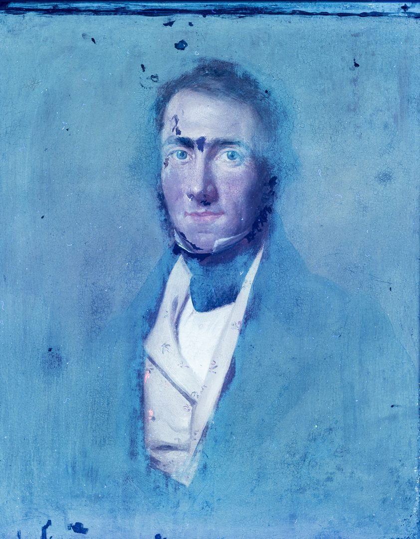 Lot 121: George Healy, O/B, Portrait of a Gentleman