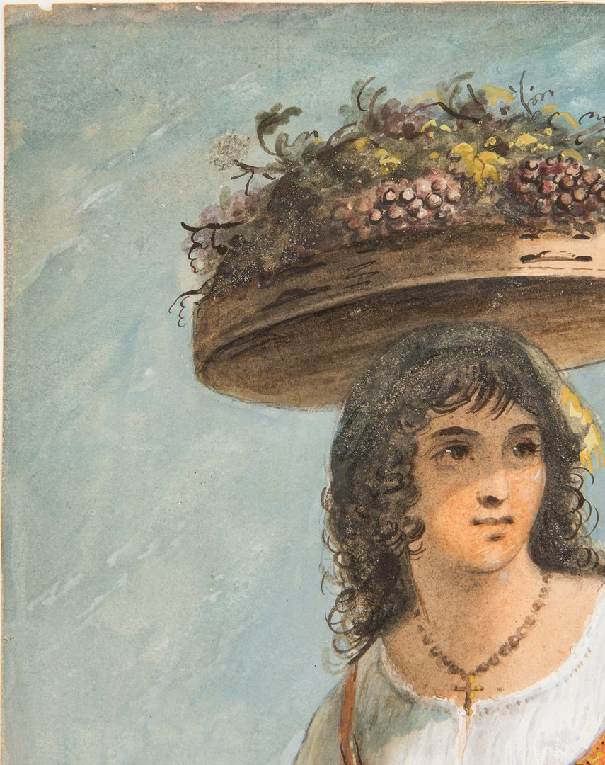 Lot 123: Alfred Jacob Miller, Watercolor of a Woman