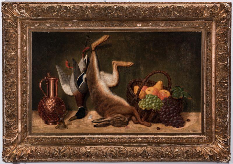 Lot 125: Friedrich Emil Klein, O/C, Still Life