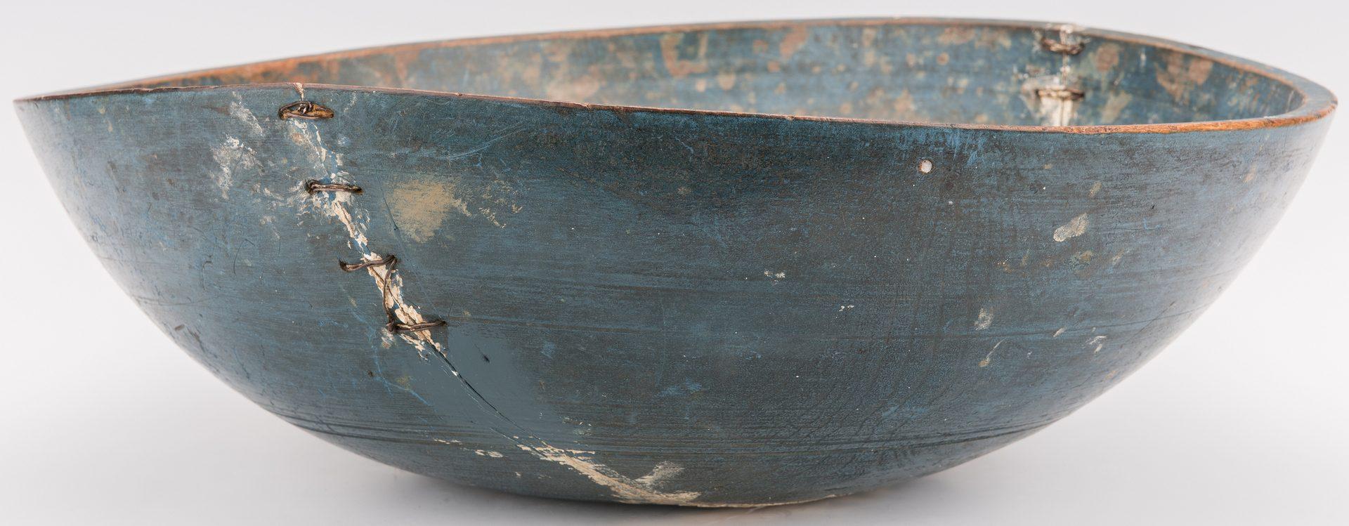 Lot 127: Stone Fruit w/ Blue Painted Turned Bowl