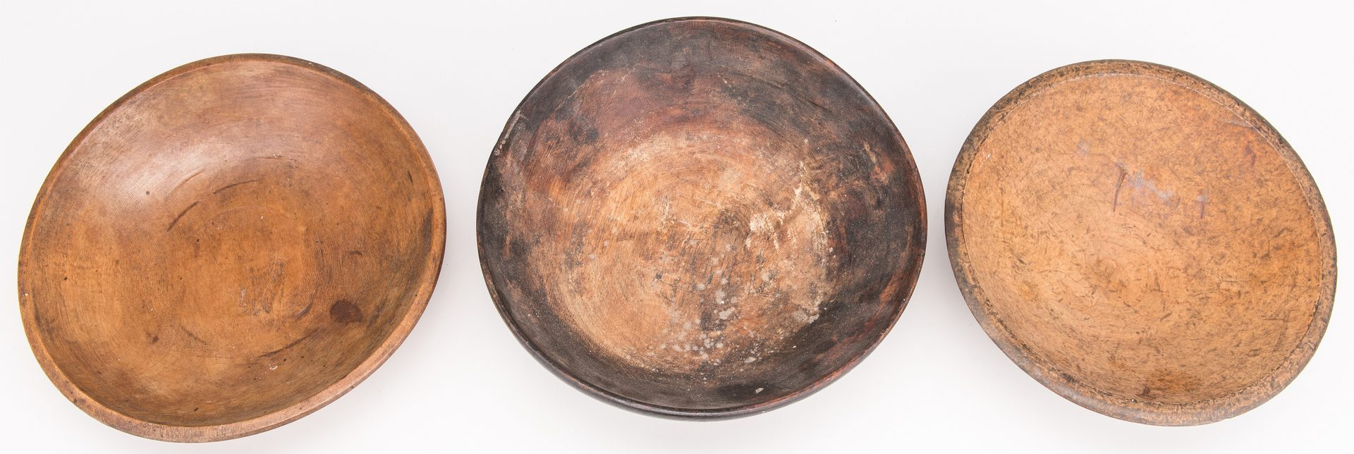 Lot 129: 6 Folk Art Carved Wood Items inc. Burl Bowl, Stool
