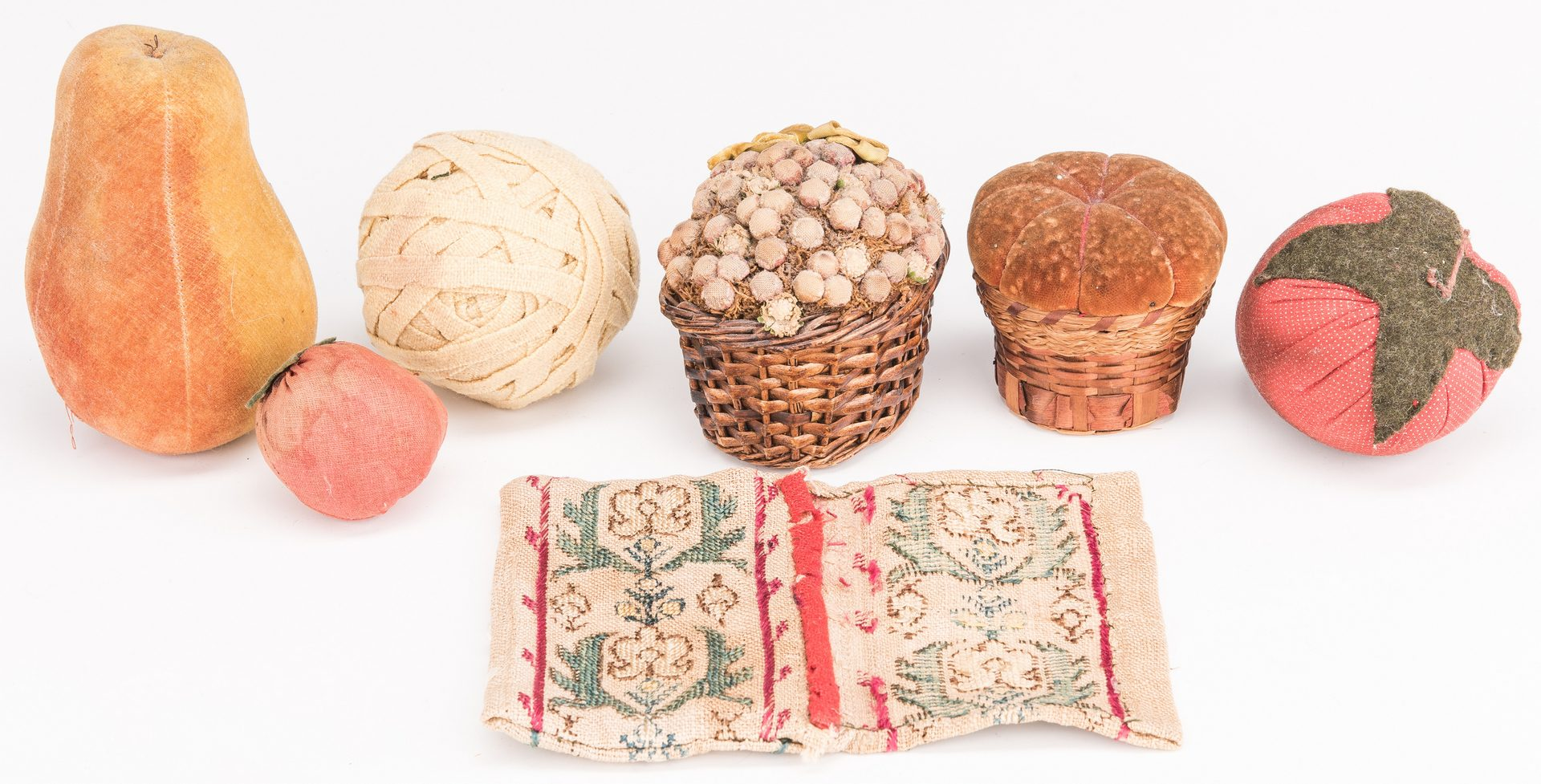 Lot 130: 4 19th Cent. American Treenware Items w/ Fruit