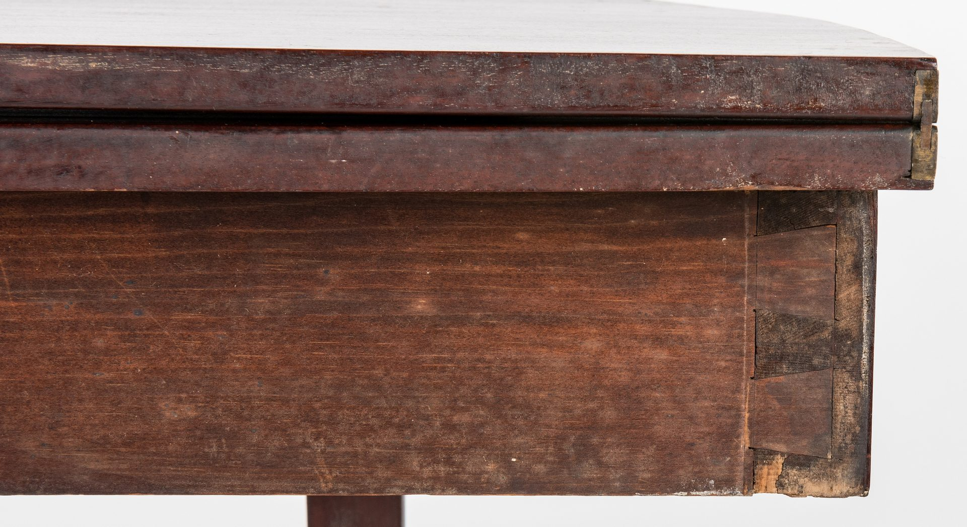 Lot 133: Federal Inlaid Game Table, Seymour School