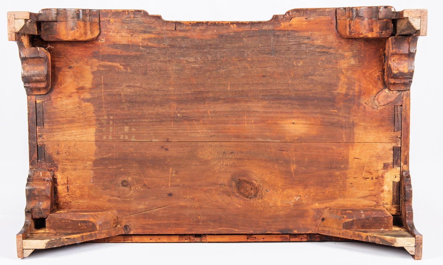 Lot 134: Massachusetts Compass Inlaid Block Front Desk