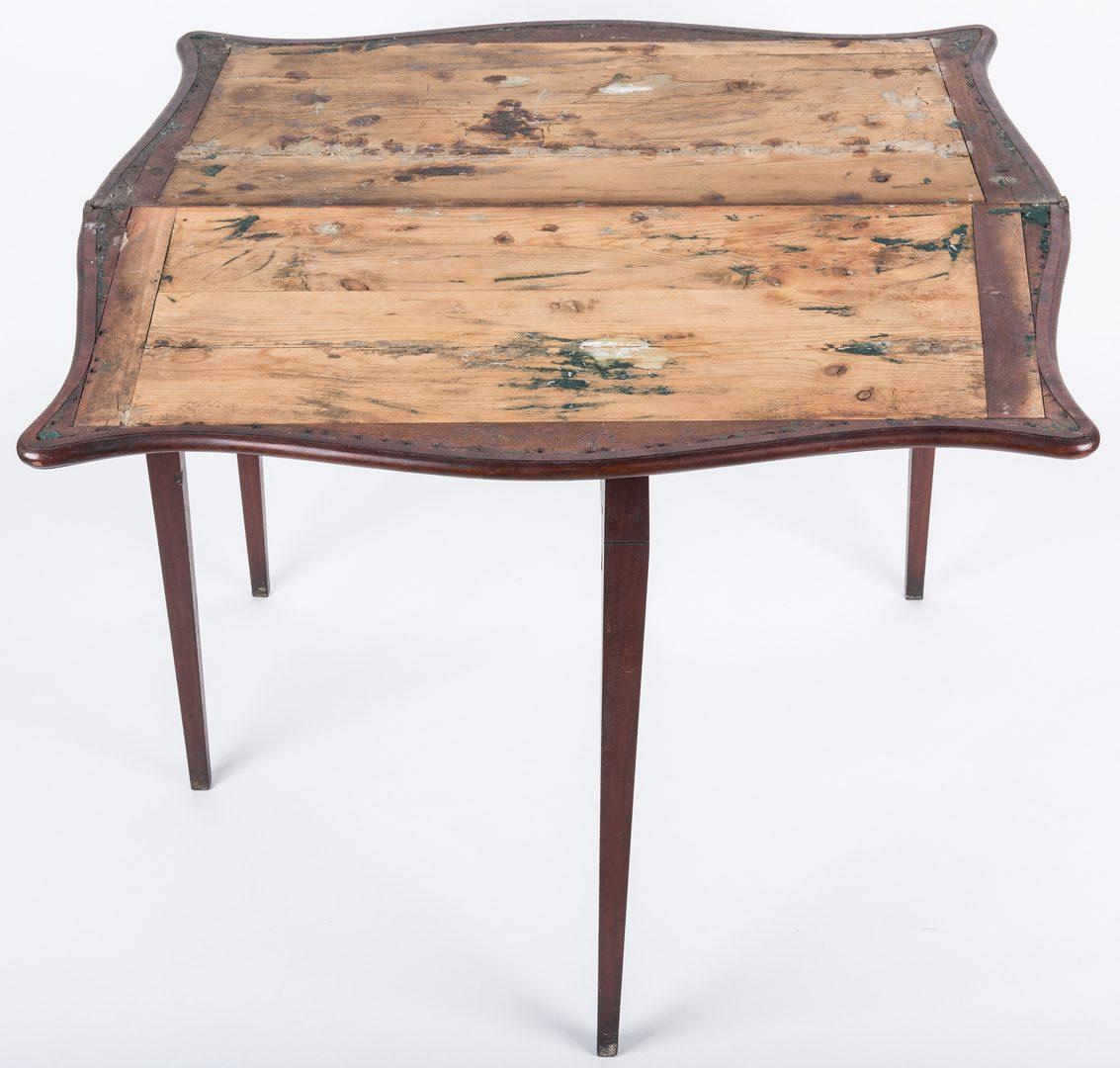 Lot 144: Federal Game Table, John Marshall History