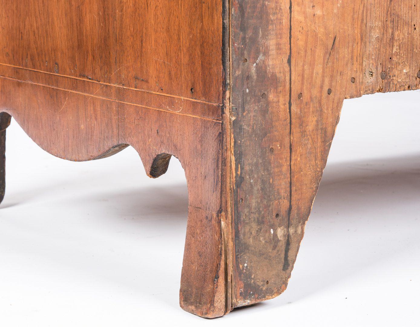 Lot 145: Virginia Slant Front  Desk, Star Inlay