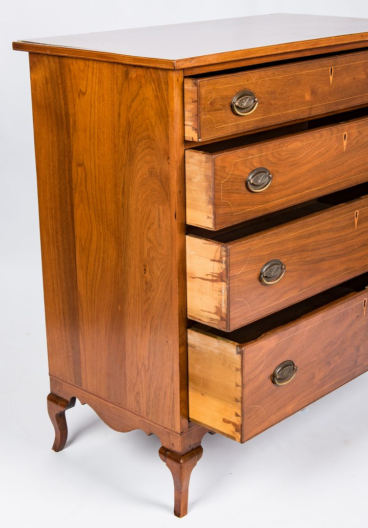 Lot 148: Kentucky Walnut Bandy Leg Chest
